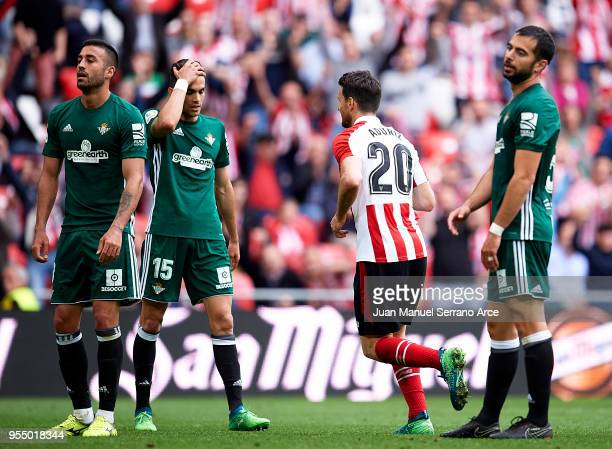 Aritz Aduriz of Athletic Club celebrates after scoring his team's second goal during the La Liga match between Athletic Club Bilbao and Real Betis...