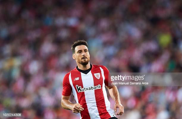 Aritz Aduriz of Athletic Club looks on during the La Liga match between Athletic Club and CD Leganes at San Mames Stadium on August 20 2018 in Bilbao...