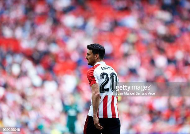 Aritz Aduriz of Athletic Club reacts during the La Liga match between Athletic Club Bilbao and Real Betis Balompie at San Mames Stadium on May 5 2018...