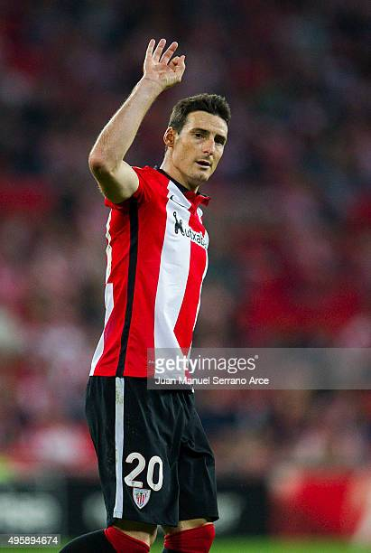 Aritz Aduriz of Athletic Club reacts during the UEFA Europa League match between Athletic Club and FK Partizan at San Mames Stadium on November 5...