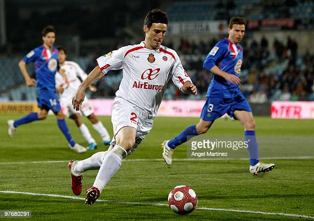 Aritz Aduriz of Mallorca in action during the La Liga match between Getafe and Mallorca at Coliseum Alfonso Perez on March 13 2010 in Getafe Spain...