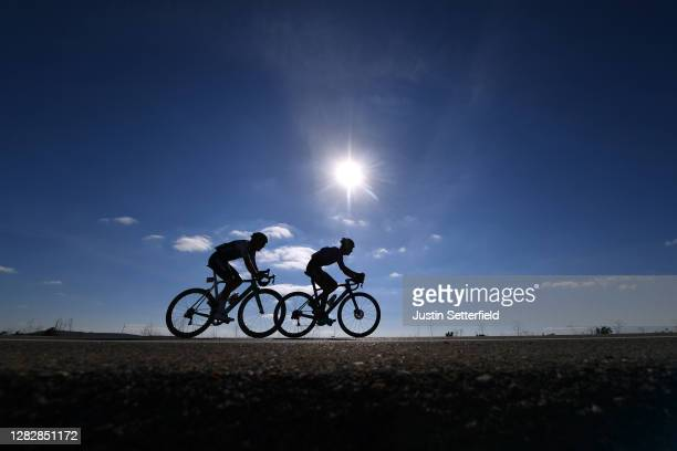 Aritz Bagues Kalparsoro of Spain and Team Caja Rural-Seguros RGA / Juan Felipe Osorio Arboleda of Colombia and Team Burgos - BH / Breakaway /...