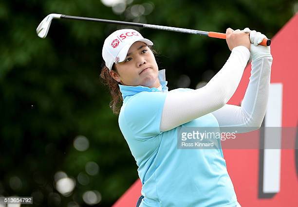 Ariya Jutanugarn of Thailand on the 16th tee during the second round of the HSBC Women's Champions at the Sentosa Golf Club on March 4 2016 in...