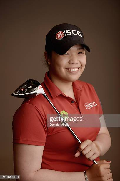 Ariya Jutanugarn of Thailand poses for a portrait during the KIA Classic at the Park Hyatt Aviara Resort on March 23 2016 in Carlsbad California