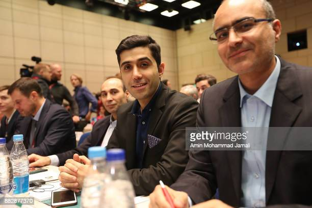 Ariyan Ghasemi Iranian translator looks on during the team seminar before Final Draw for the 2018 FIFA World Cup Russia on November 30 2017 in Moscow...