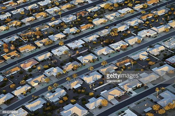 USA, Arizona, aerial view of Sun City retirement community