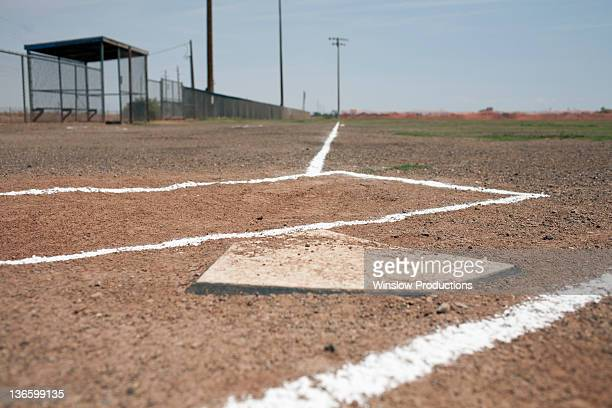 USA, Arizona, Baseball home plate