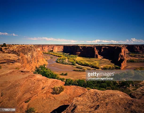 Arizona, Canyon de Chelly National Monument, Tsegi Overlook along the South Rim Drive.
