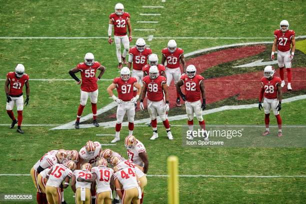 Arizona Cardinals cornerback Patrick Peterson Arizona Cardinals outside linebacker Chandler Jones Arizona Cardinals defensive end Josh Mauro Arizona...