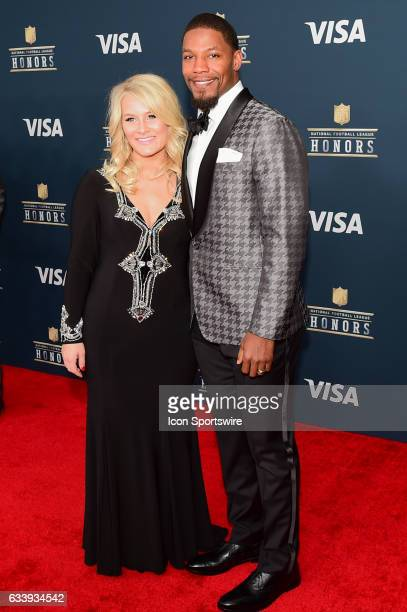Arizona Cardinals David Johnson and his wife on the Red Carpetduring the NFL Honors Red Carpet on February 4 2017 at the Worthan Theater Center...