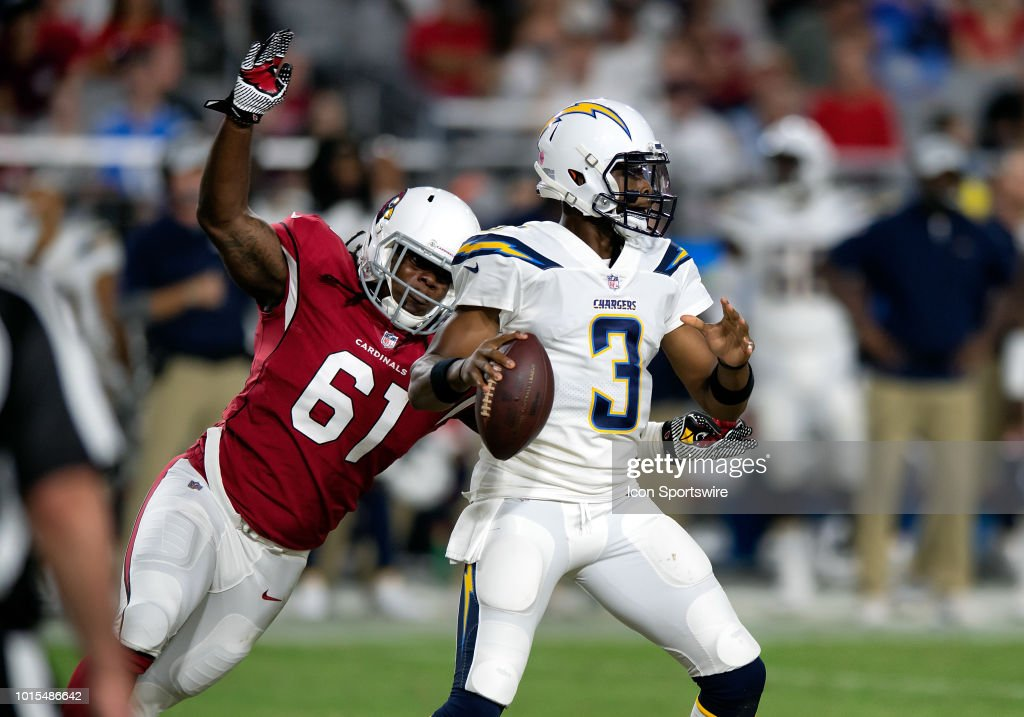Arizona Cardinals defensive end Cap Capi launches toward Los Angeles ... 38a7b9a5191