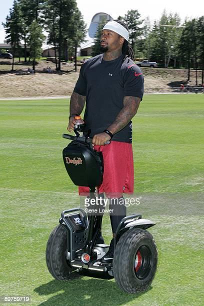 Arizona Cardinals defensive lineman Darnell Dockett on his segway during training camp on August 7 2009 in Flagstaff Arizona