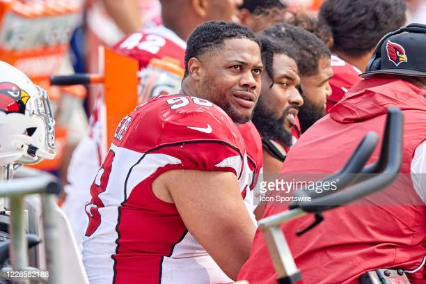 Arizona Cardinals defensive tackle Corey Peters looks on during the NFL game between the San Francisco 49ers and the Arizona Cardinals on September...