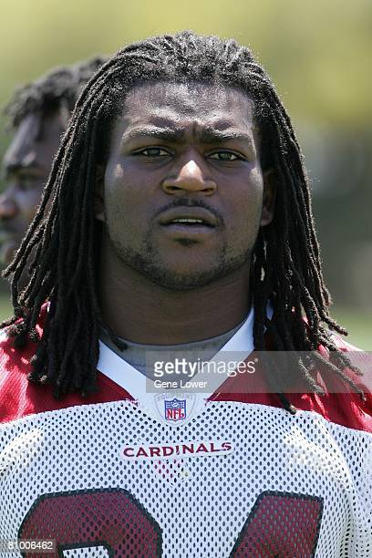 Arizona Cardinals fifth round draft choice and running back Tim Hightower during the first day of mini camp practice on Friday May 2 2008 at the...
