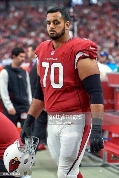 Arizona Cardinals offensive guard Oday Aboushi looks on in game action during an NFL game between the Arizona Cardinals and the San Francisco 49ers...