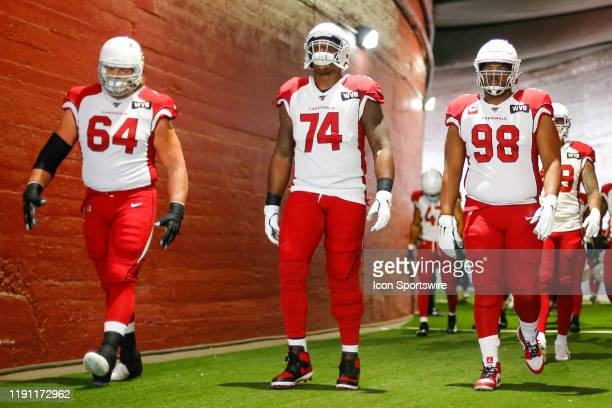 Arizona Cardinals offensive tackle D.J. Humphries Arizona Cardinals offensive guard J.R. Sweezy and Arizona Cardinals defensive tackle Corey Peters...
