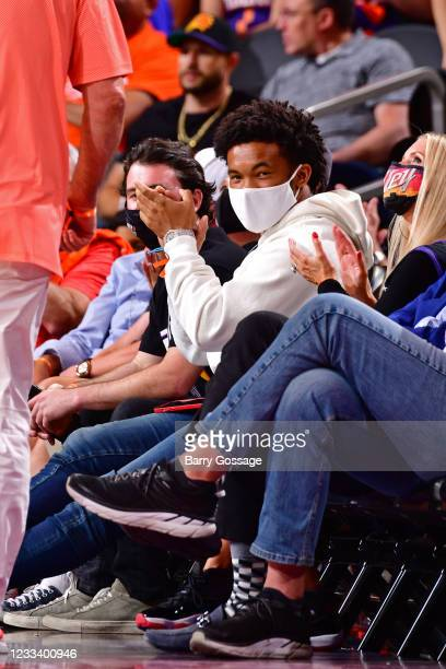Arizona Cardinals player Kyler Murray attends the game between the Los Angeles Lakers and the Phoenix Suns during Round 1, Game 5 of the 2021 NBA...