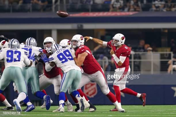 Arizona Cardinals quarterback Chad Kanoff throws a pass during the preseason football game between the Dallas Cowboys and Arizona Cardinals on August...