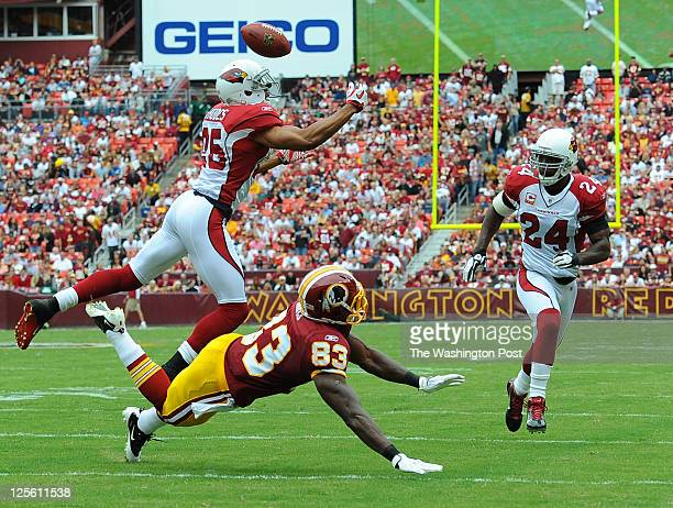 Arizona Cardinals Strong Safety Adrian Wilson Breaks Up A Pass Intended For Washington Redskins Tight End