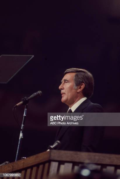 Arizona Congressman Morris Udall speaking at the 1976 Democratic National Convention Madison Square Garden in New York City