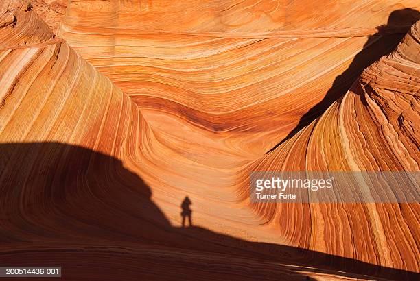 USA, Arizona, Coyote Buttes, shadow of hiker