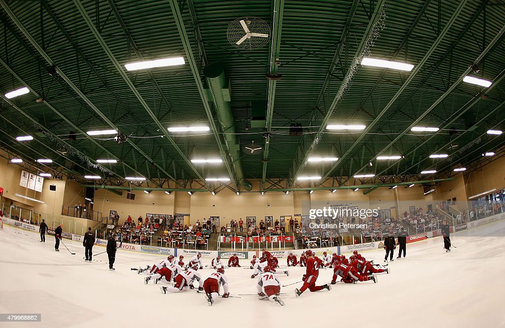 Arizona Coyotes prospects participant in the development camp at the Ice Den on July 8, 2015 in Scottsdale, Arizona.