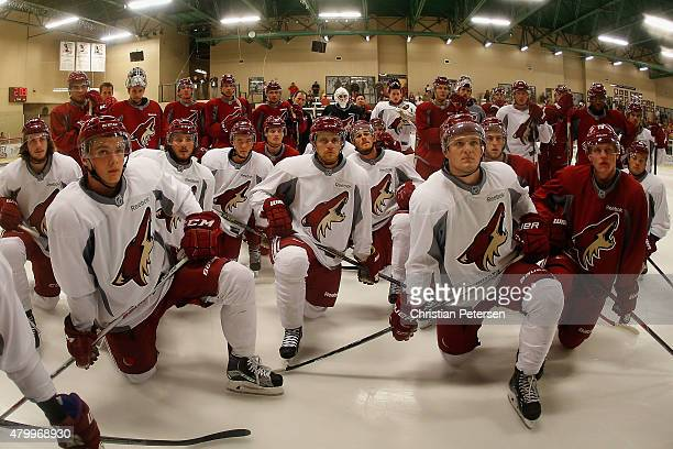Arizona Coyotes prospects participant in the development camp at the Ice Den on July 8 2015 in Scottsdale Arizona