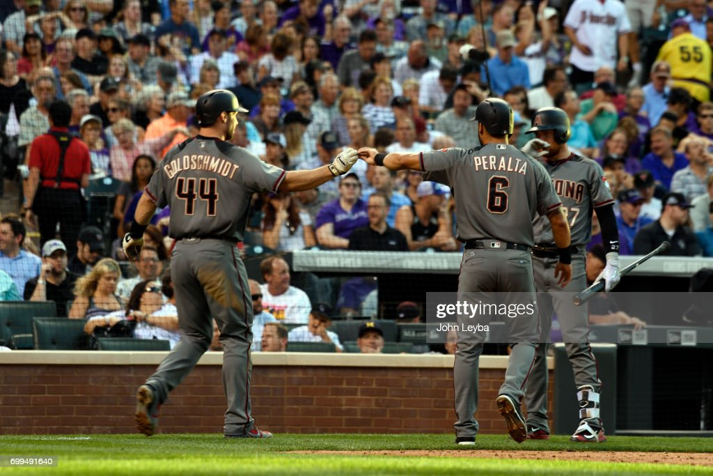 Colorado Rockies versus Arizona Diamondbacks : News Photo