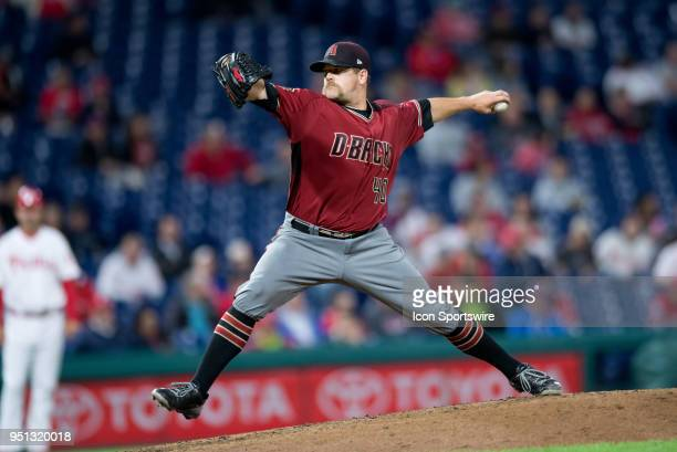 Arizona Diamondbacks Pitcher Andrew Chafin winds up in the seventh inning during the game between the Arizona Diamondbacks and Philadelphia Phillies...