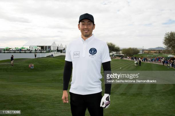 Arizona Diamondbacks pitcher Yoshihisa Hirano poses for a photo during the Waste Management Phoenix Open ProAm at TPC Scottsdale on January 30 2019...