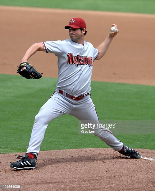 Arizona Diamondbacks starter Doug Davis pitches during 2-1 loss to the Los Angeles Dodgers at Dodger Stadium in Los Angeles, Calif. On Wednesday, May...