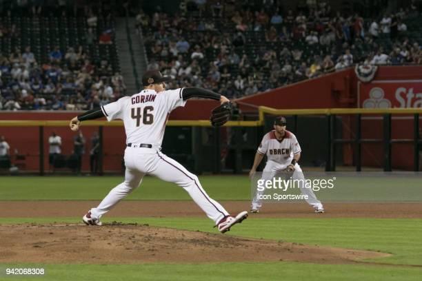 Arizona Diamondbacks starting pitcher Patrick Corbin on the mound during the Arizona Diamondbacks game versus the Los Angeles Dodgers on April 4 at...