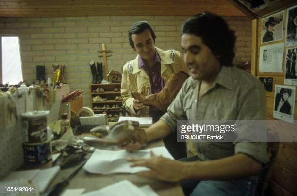 Arizona EtatsUnis 24 juillet 1987 Rendezvous avec Dick RIVERS en vacances aux EtatsUnis en compagnie de son épouse Babette et de son fils Pascal Ici...