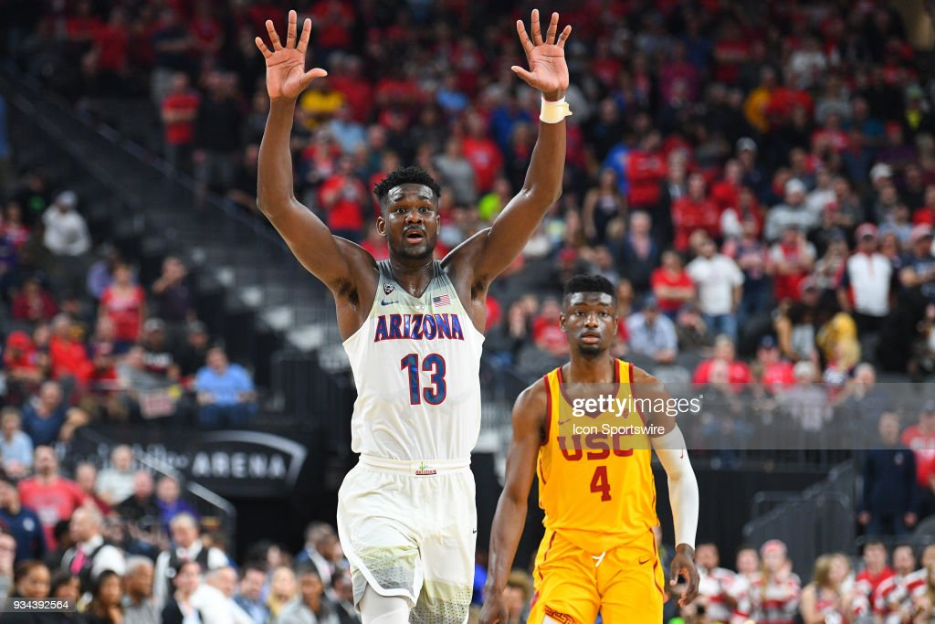 COLLEGE BASKETBALL: MAR 10 PAC-12 Tournament - USC v Arizona : News Photo