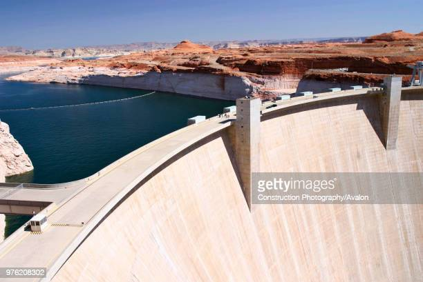 GLEN CANYON DAM near the city of PAGE The Colorado River is being backed up to Lake Powell for water supply and to generate electric power