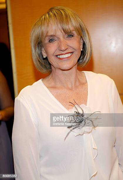 Arizona governor Jan Brewer arrives at Muhammad Ali's Celebrity Fight Night XV held at the JW Marriott Desert Ridge Resort Spa on March 28 2009 in...