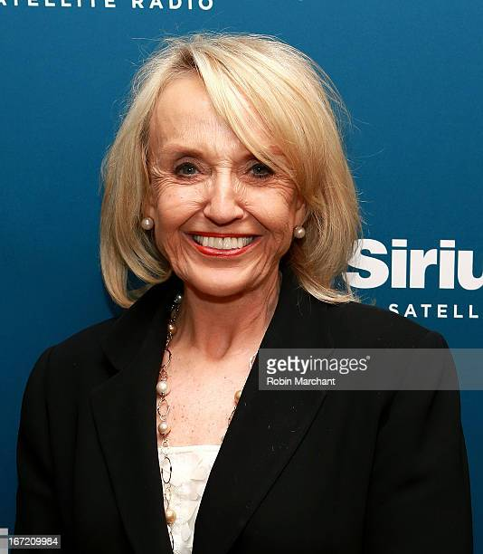 Arizona Governor Jan Brewer visits David Webb's American Forum at SiriusXM studios in New York on April 22 2013