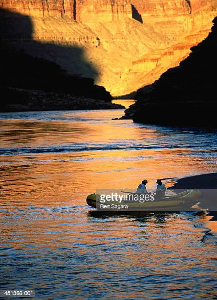 USA, Arizona, Grand Canyon, Colorado River, couple in a raft