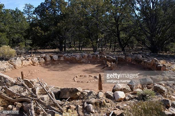 Arizona, Grand Canyon National Park, South Rim, TUSAYAN Ruins, Anasazi Village Dating Back To The Late 1100s.
