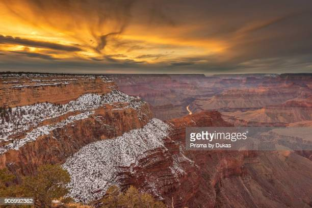 USA Arizona Grand Canyon National Park UNESCO World Heritage sunset along the South rim