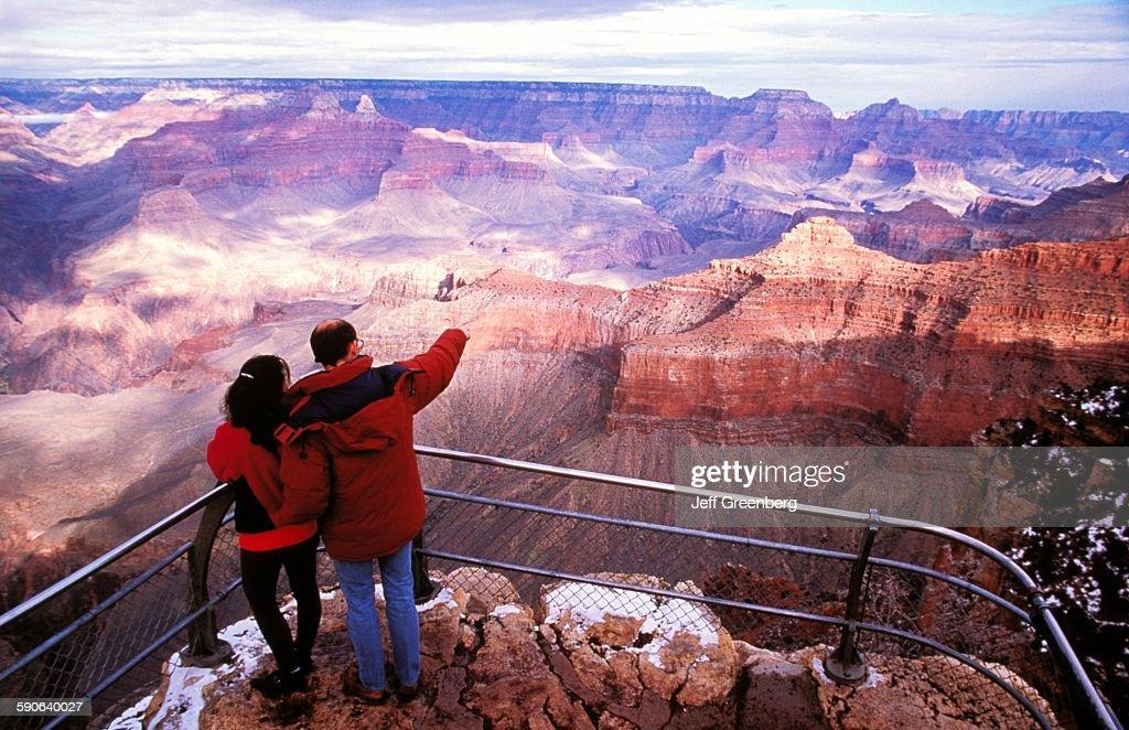 Arizona Grand Canyon National Park View Near Lipan Point 1 Mile Deep And
