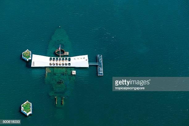 uss arizona memorial - frigate stock photos and pictures