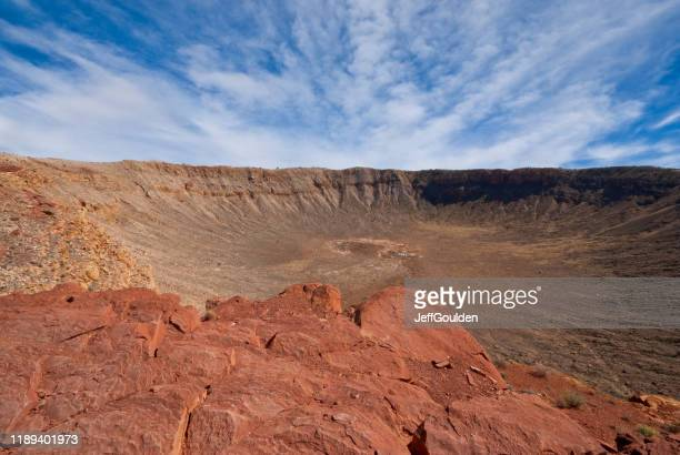 arizona meteor crater - jeff goulden stock pictures, royalty-free photos & images