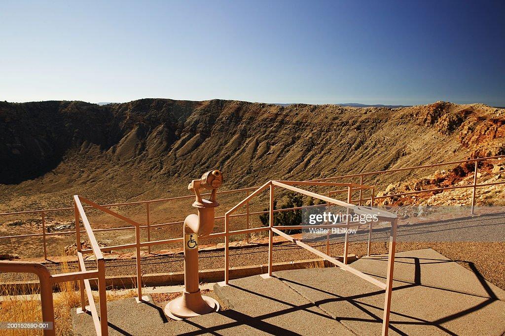 USA, Arizona, meteor crater viewing area : Stock Photo