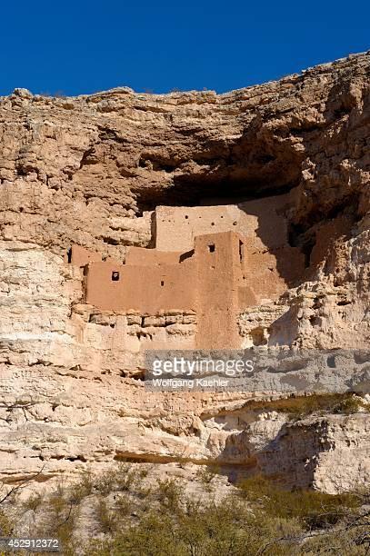 Arizona, Montezuma Castle National Monument, Sinagua Cliff Dwelling From The 1100s.