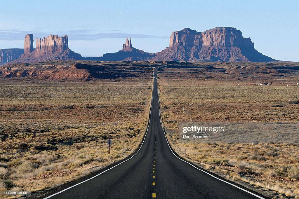 Usa Arizona Monument Valley Tribal Park Highway Leading To