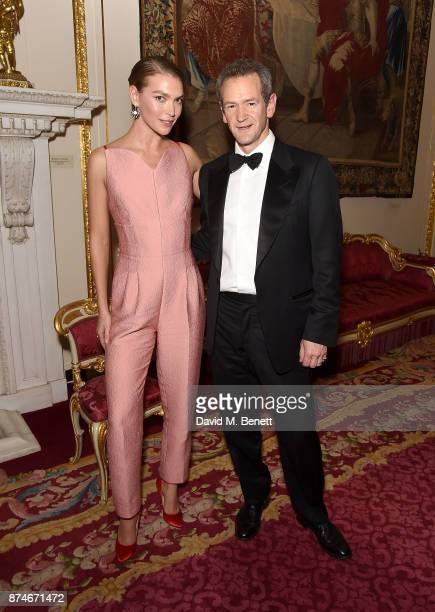 Arizona Muse and Alexander Armstrong attend the Leopard Awards in Aid of the Prince's Trust at Goldsmith's Hall on November 15 2017 in London England