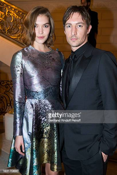 Arizona Muse and Benn Northover attend the 'CR Fashion Book Issue 2' Carine Roitfeld Cocktail as part of Paris Fashion Week at Hotel ShangriLa on...