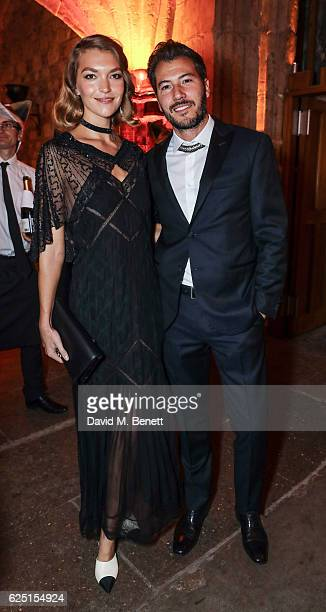Arizona Muse and Boniface VerneyCarron attend the Save The Children Winter Gala at The Guildhall on November 22 2016 in London England