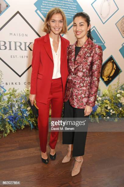 Arizona Muse and Caroline Issa attend the UK launch of Birks Jewellery at Canada House Trafalgar Square on October 16 2017 in London England
